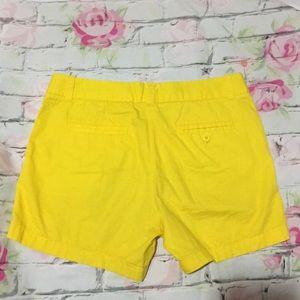 ✨J Crew 100% Cotton Chino Broken-In Yellow Shorts